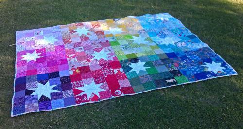 reverse rainbow starburst block