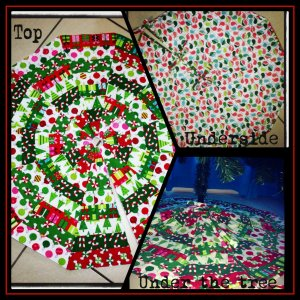 Collage Christmas tree skirt