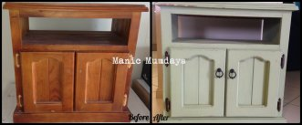 Kids TV cabinet makeover