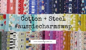 cotton steel charm along